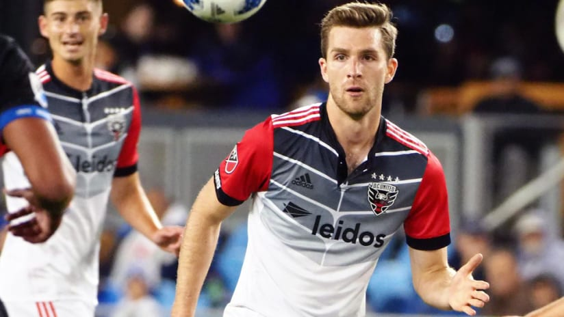 Patrick Mullins - in action for D.C. United agains the San Jose Earthquakes