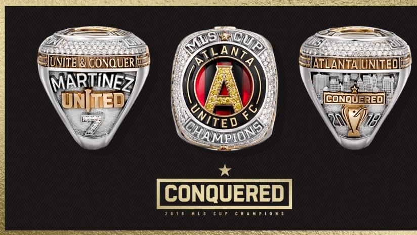 Atlanta United - MLS Cup rings graphic