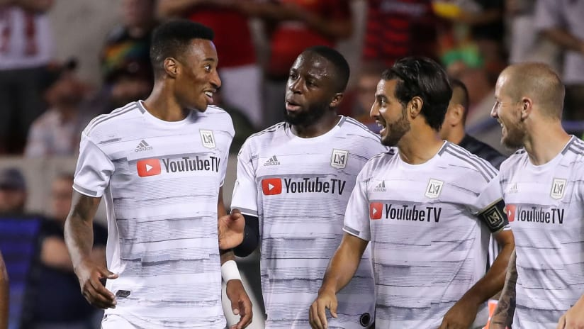 LAFC - celebrate as a group