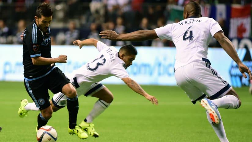 David Villa - NYCFC - dribbling vs. Vancouver Whitecaps