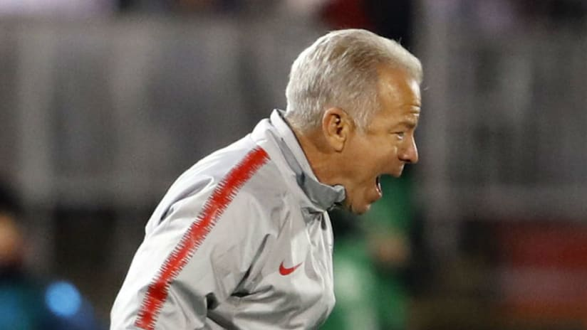 Dave Sarachan - yelling - in jacket
