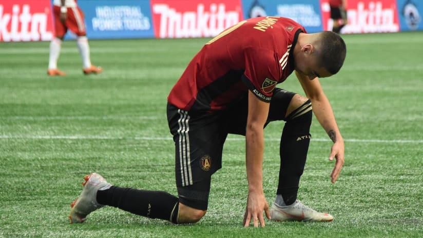 Miguel Almiron -- injured -- 2018-10-06