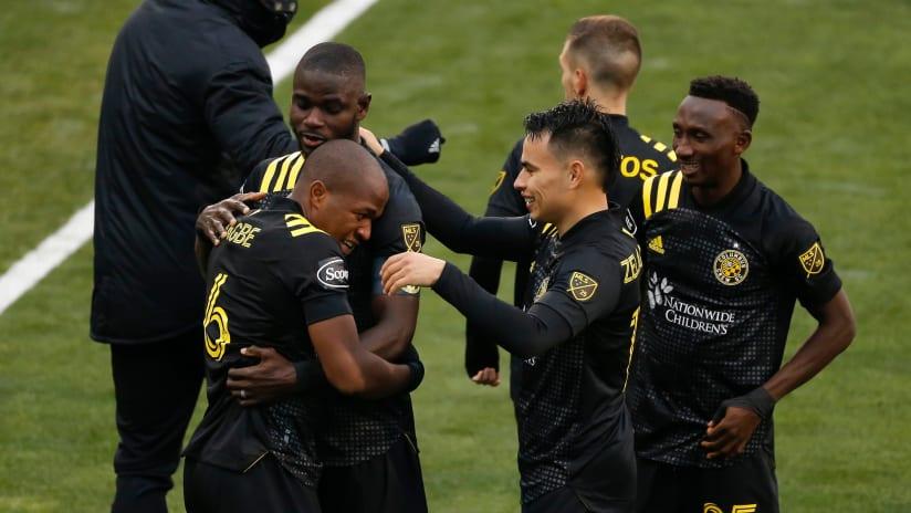 Darlington Nagbe - Columbus Crew - celebrates