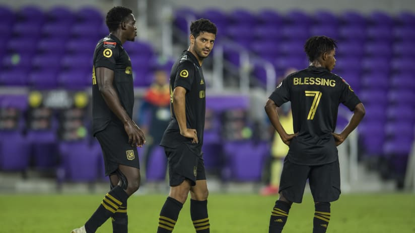 Carlos Vela - LAFC - looking on vs. Club America