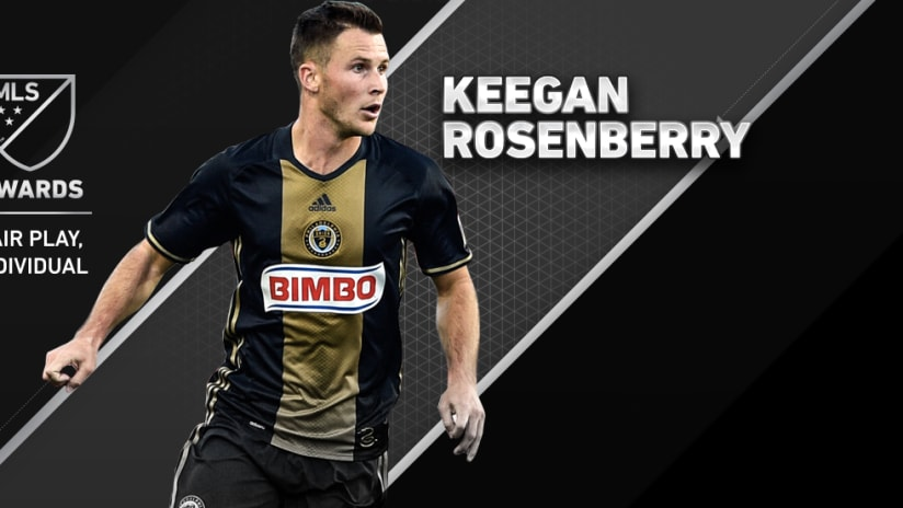 Keegan Rosenberry - Philadelphia Union - Fair Play Award