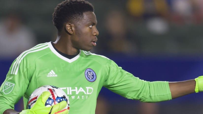 Sean Johnson - New York City FC - gives a thumbs-up