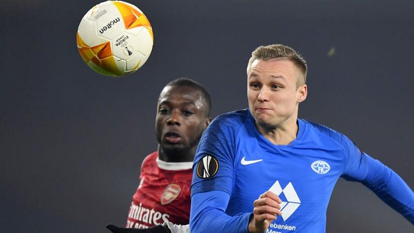 Molde FK – Stian Gregersen –pursues ball