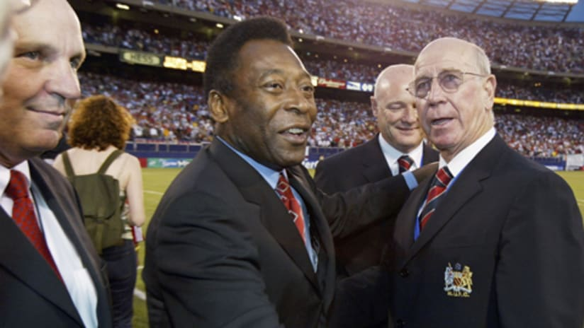 Pele (center) filled Giants Stadium with excitement on countless occasions.