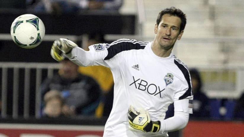 Seattle Sounders goalkeeper Michael Gspurning