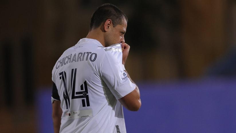 Javier Hernandez - LA Galaxy - grimmace