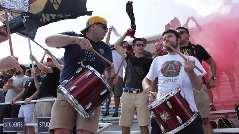 Atlanta United fans - at U-18 academy game - ATL's first-ever home match