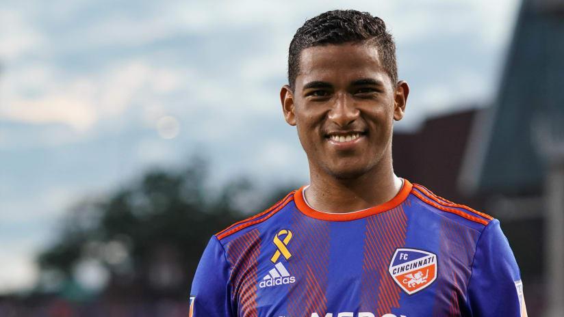 Allan Cruz - FC Cincinnati - smiling