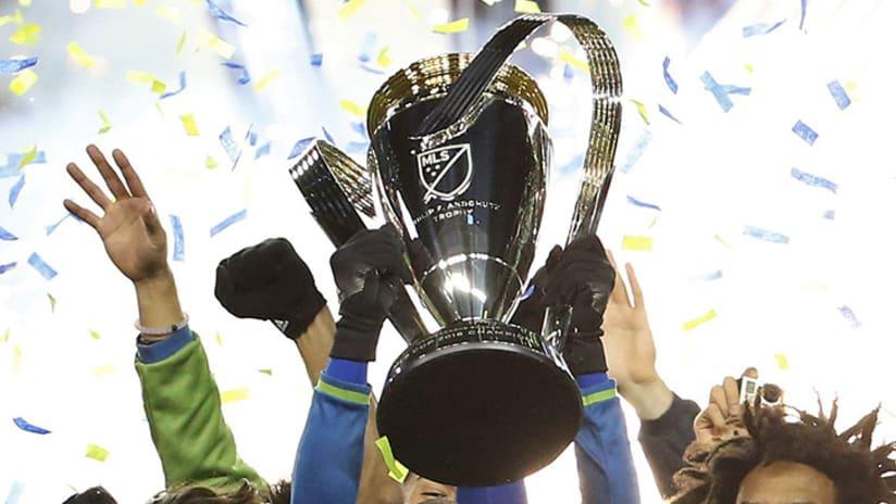 MLS Cup trophy - 2016