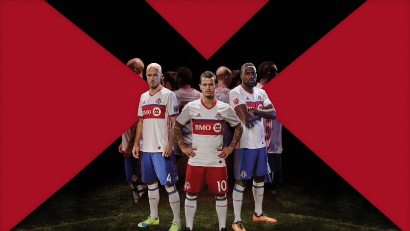Toronto FC players in new 2016 jersey