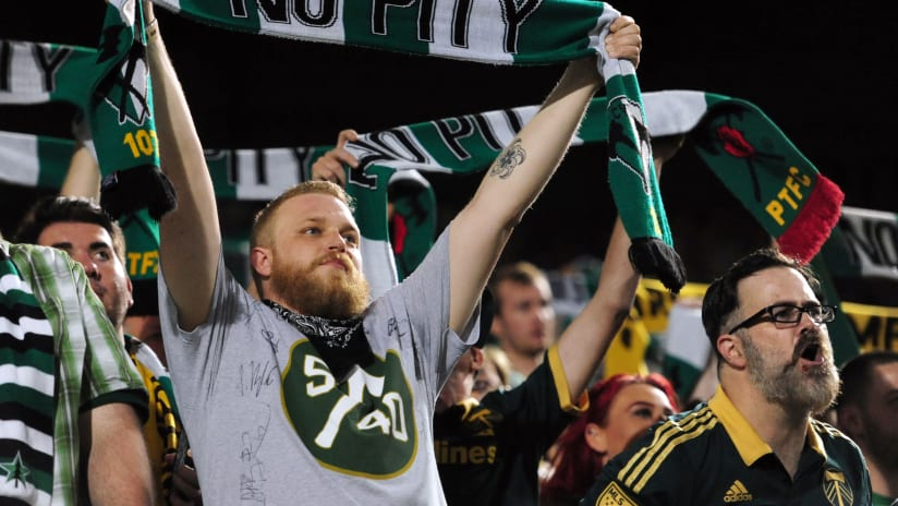 Timbers Army No Pity scarves