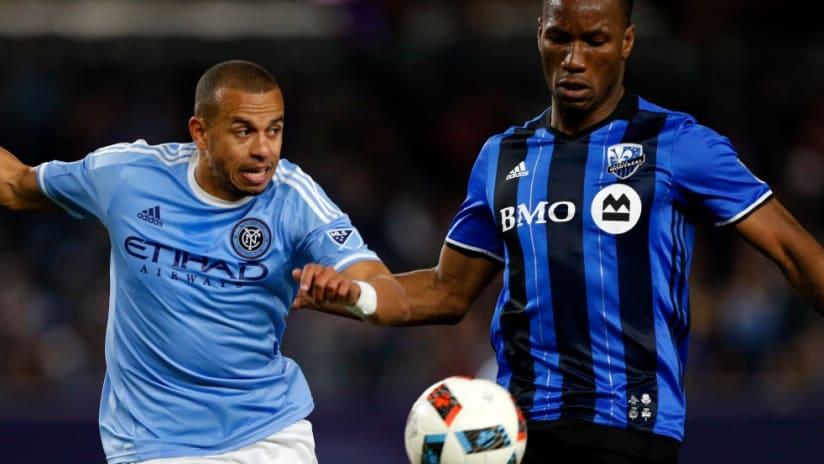 Jason Hernandez - Didier Drogba - NYCFC - Montreal Impact - action
