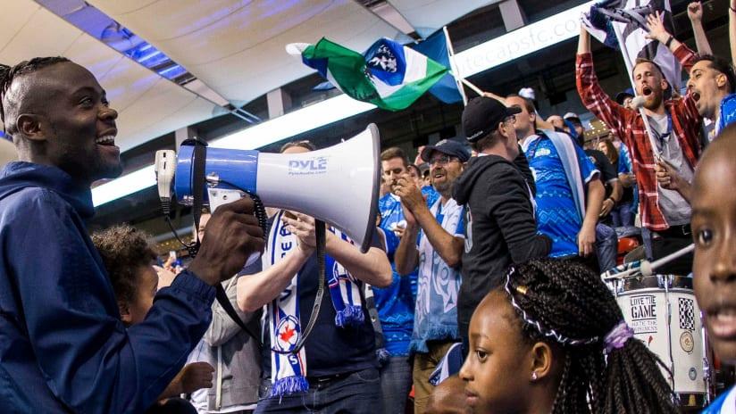 Kei Kamara - Vancouver Whitecaps - With fans
