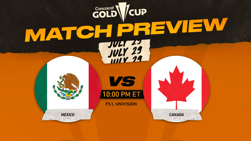 Canada vs. Mexico: How to watch & stream, preview of Gold Cup Semifinal