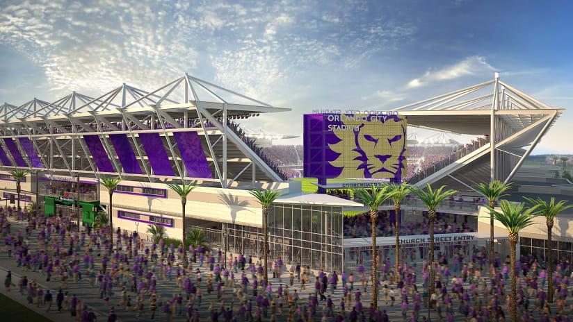Orlando stadium rendering, south view - Orlando City SC