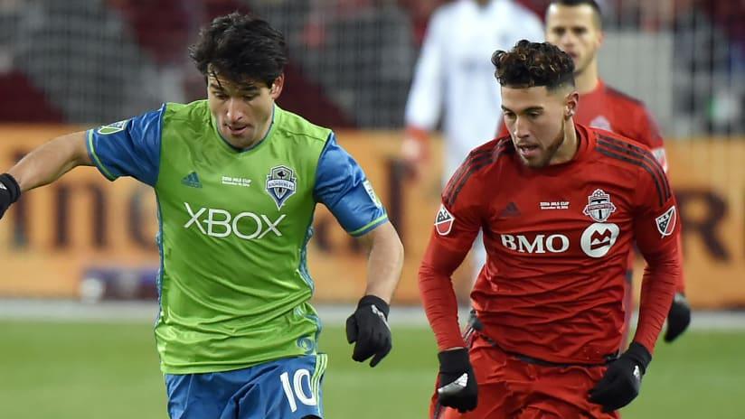Nicolas Lodeiro - Jonathan Osorio - Seattle Sounders - Toronto FC - 2016 MLS Cup