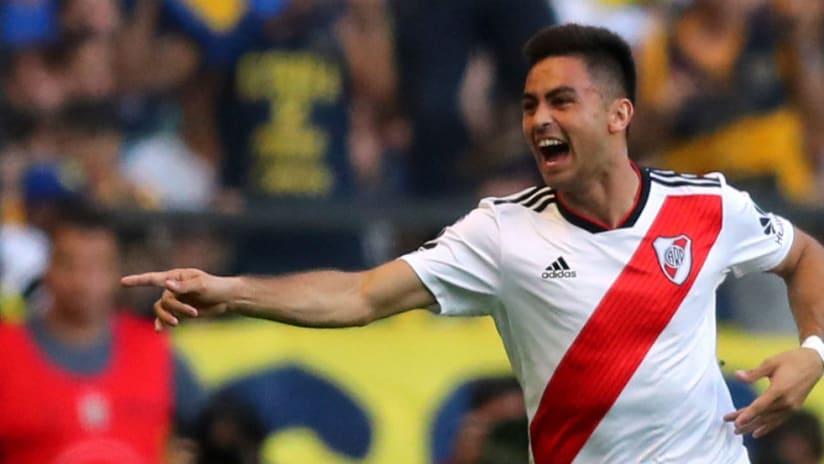 Gonzalo Martinez - celebrates goal - River Plate