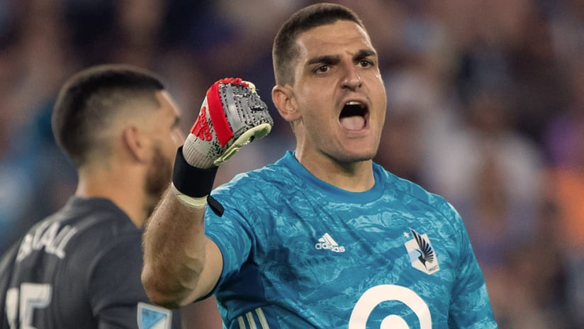 Vito Mannone - Minnesota United FC - Fist pump