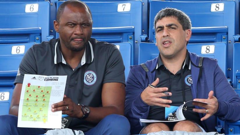 Patrick Vieira and Claudio Reyna - New York City FC - 2016 adidas MLS Player Combine