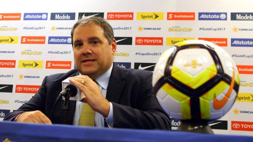 Concacaf president Victor Montagliani at 2017 Gold Cup