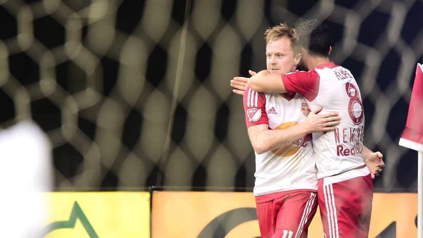 Dax McCarty - Felipe Martins - New York Red Bulls - Celebrate a goal