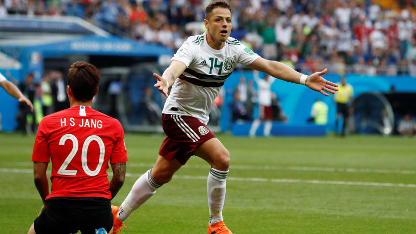 Javier Chicharito Hernandez –Mexico – goal celebration