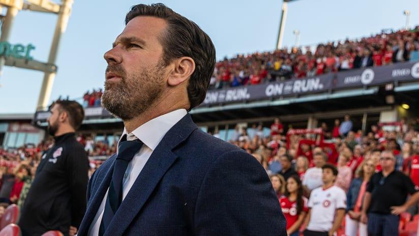 Greg Vanney – Toronto FC –pensive look