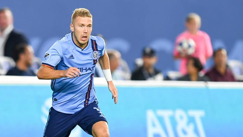 Anton Tinnerholm on the ball - NYCFC
