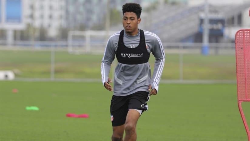 Logan Gdula - FC Cincinnati - training