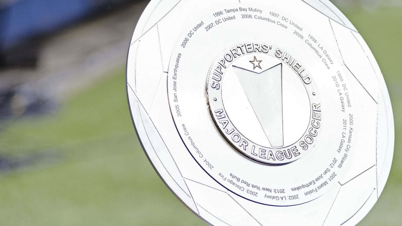 Supporters' Shield on display at CenturyLink Field