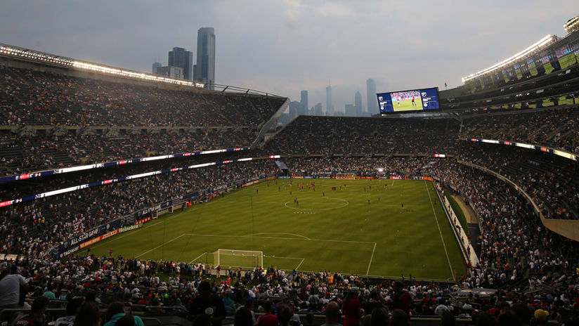 Soldier Field - panoramic view - 2017 All-Star Game