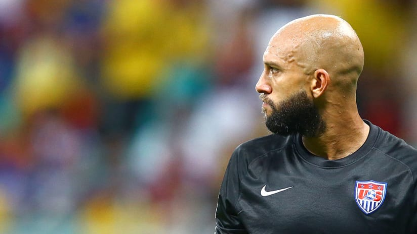 Tim Howard - USMNT - 2014 World Cup - Looks off in the distance