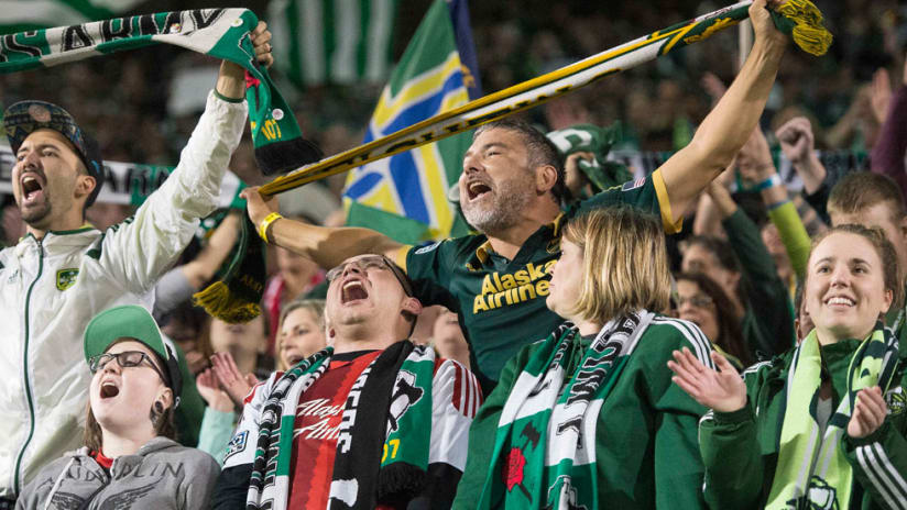 Timbers Army - Portland Timbers - Celebrate after PK win
