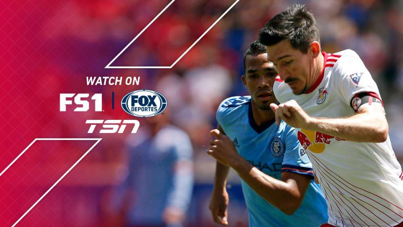 FS1 + FOX Deportes + TSN: Sacha Kljestan close-up - New York Red Bulls - New York City FC