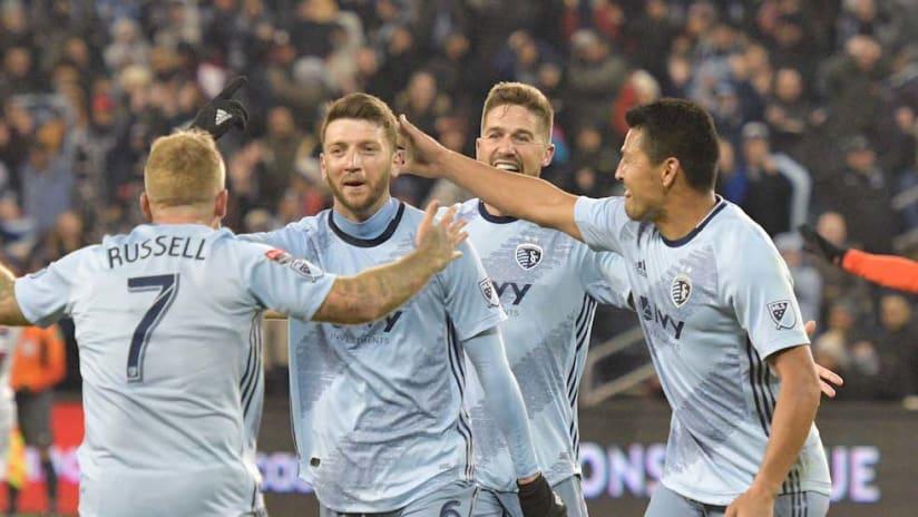 Ilie Sanchez goal celebration vs. Toluca