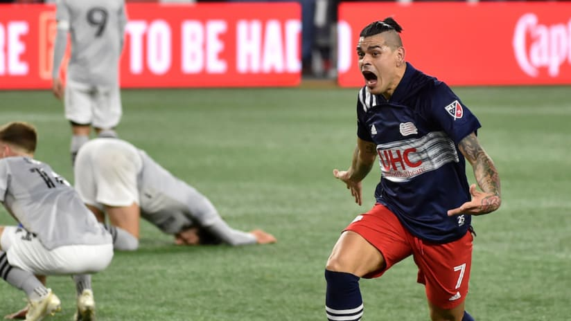 Gustavo Bou celebrates stoppage-time winner vs. Montreal - 2020 MLS Cup Playoffs