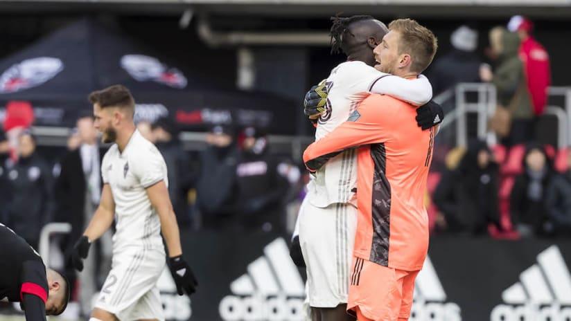 Colorado Rapids celebrate at DC United