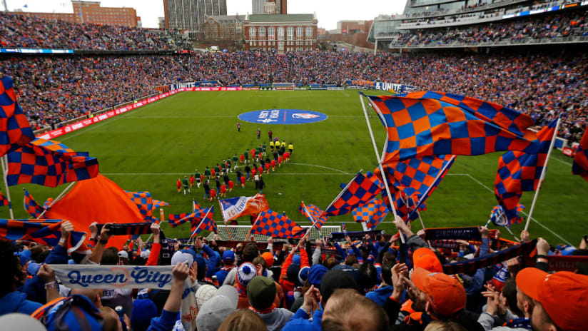 Nippert Stadium - From the end - Home MLS opener