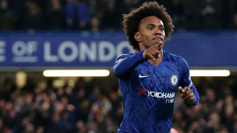 Willian - Chelsea - celebrates goal