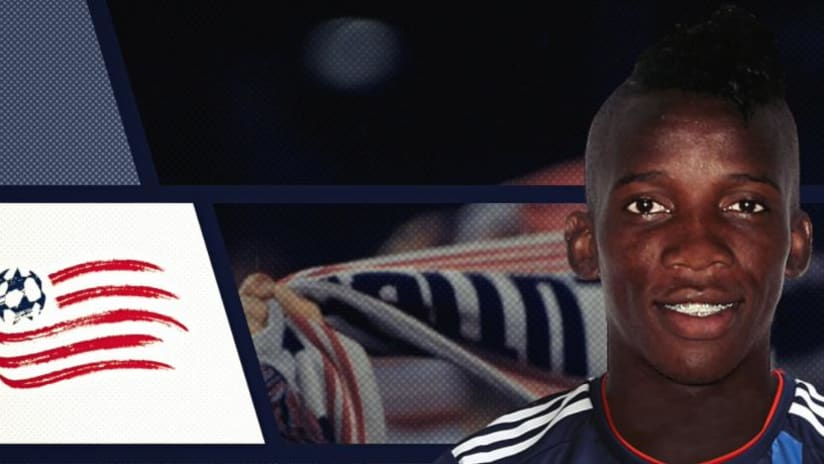 Luis Alberto Caicedo - New England Revolution - graphic image at signing