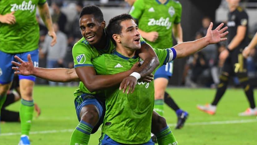 Nicolas Lodeiro - celebrating goal - vs LAFC