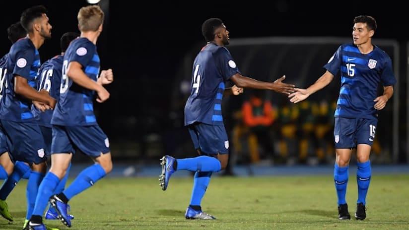 US U-20s - Celebration - 2018 Concacaf U-20 Championship