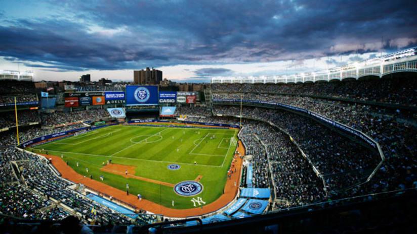 NYCFC at Yankee Stadium rendering
