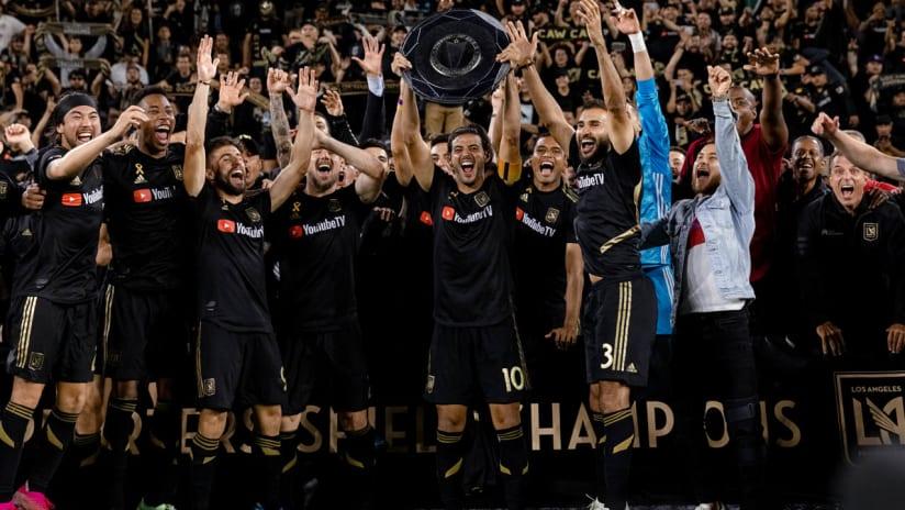LAFC - celebrate Supporters' Shield - closer shot