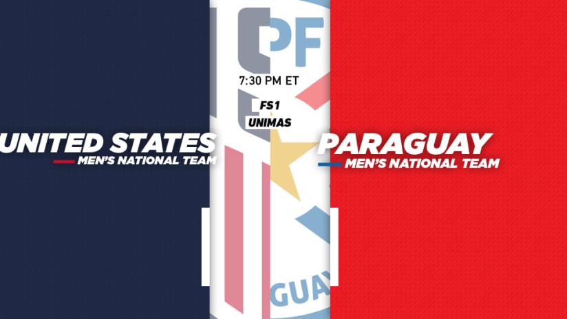 United States - Paraguay - USAvPAR - Match Image - March 27, 2018