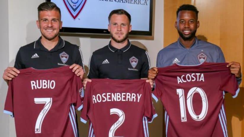 Diego Rubio - Keegan Rosenberry - Kellyn Acosta - re-sign with Colorado Rapids